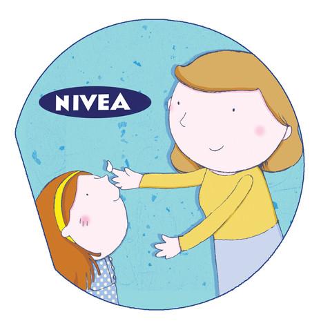 Nivea advertising job Book to fit with a Nivea tin