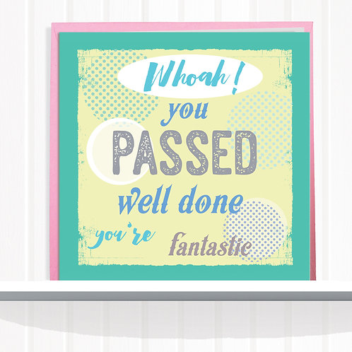 Message Me Range Greeting Card set of 6 code AR083YOU You Passed.