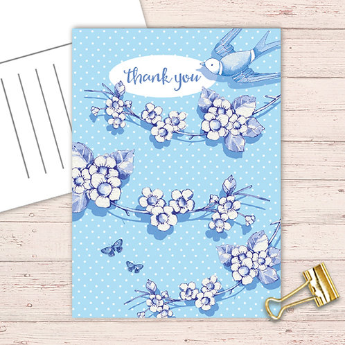 Willow Love Birds Range Postcard  set of 12 CodePOSTFLOWG21  Flower