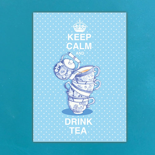Keep Calm & drink Tea Postcards set of 12