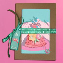 Teatowel Keep Calm and Knit Gift Box