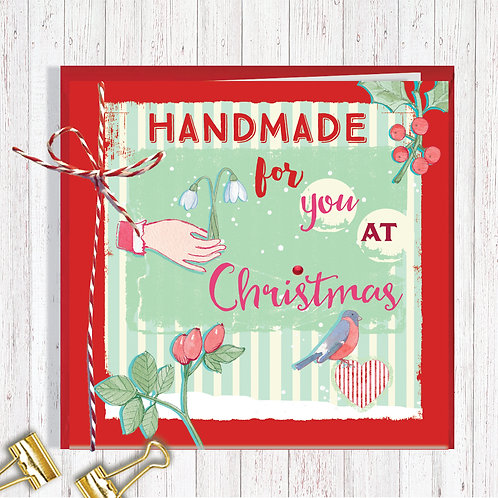 Christmas Range Greeting Card Blank inside set of 6 Code AR074HAN Handmade