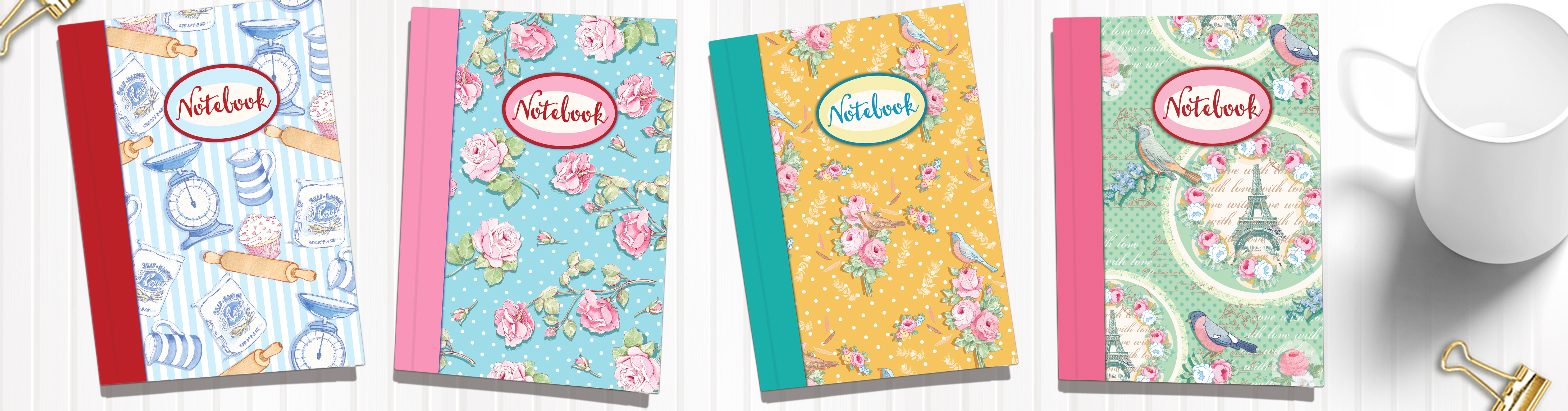 New April Rose Notebooks