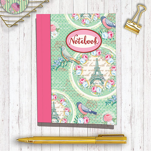 Set of 6 Notebooks CodeA6NB04 Paris