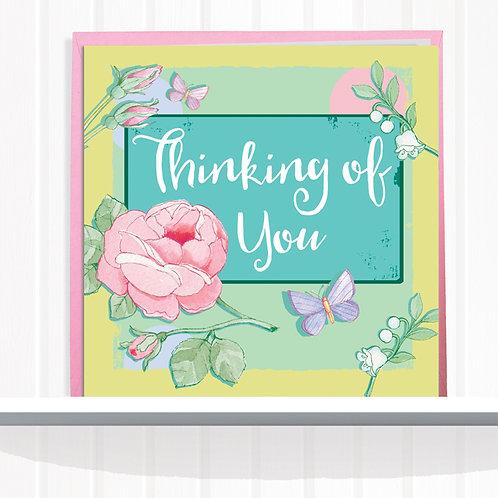 Message Me Range Greeting Card set of 6 code 080THI Thinking of You