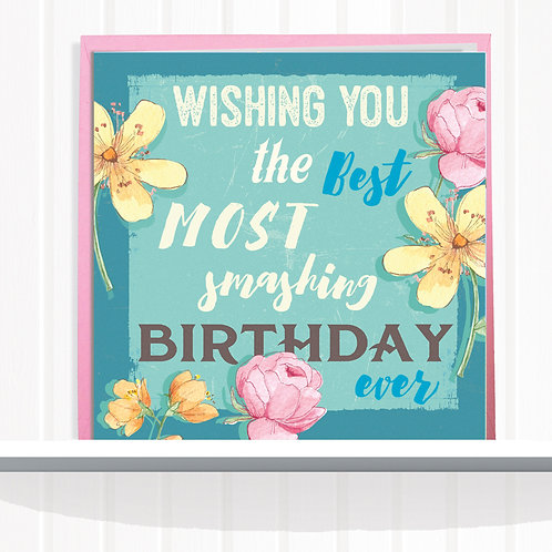 Message Me Greeting Card set of 6 code63SMA Smashing Birthday