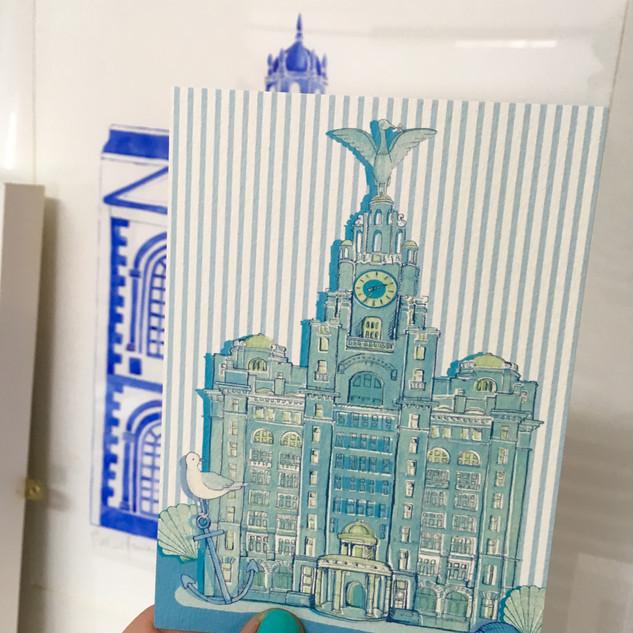 Liverbirds Postcard