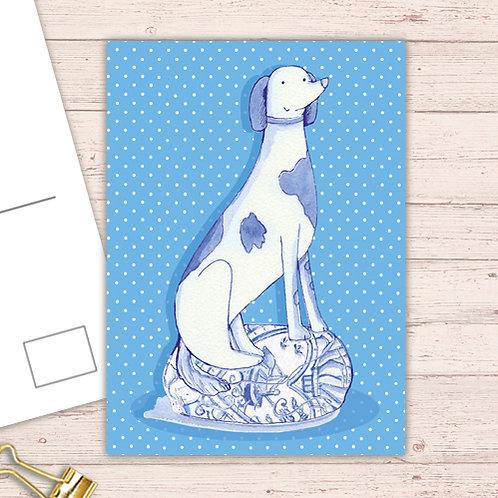 Willow Love Birds Range Postcard  set of 12 CodePOSTDOG24 Dog