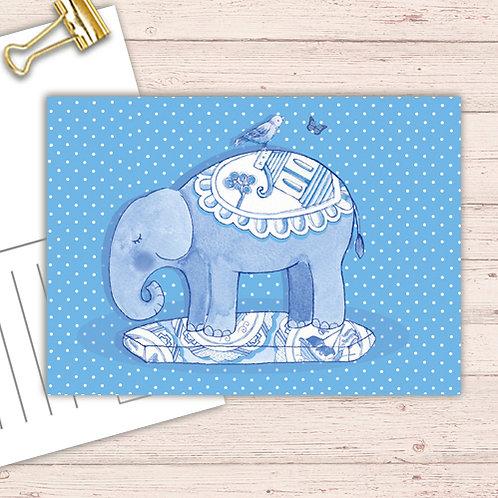 Willow Love Birds Range Postcard  set of 12 CodePOSTELE29 Elephant