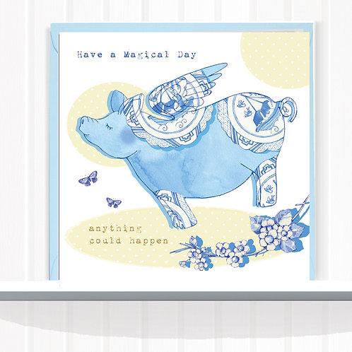 Willow Love Birds Range Greeting Card Blank inside set of 6 Code AR0161PIG