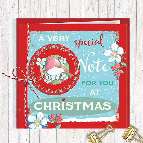 Christmas Range Greeting Card Blank inside set of 6 Code AR067NOT Note