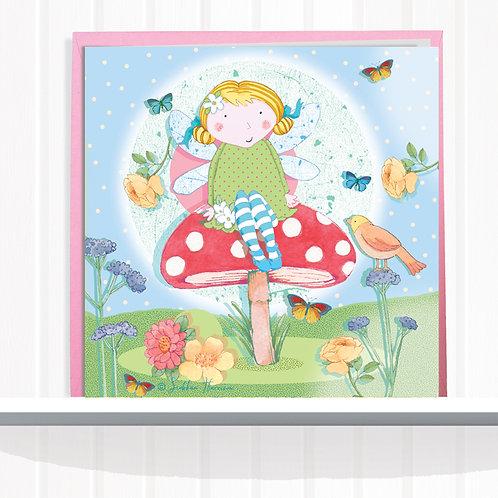 Fairies of Foxglove Dell Range Greeting Card set of 6 Code AR0117FAI Fairy Dawn