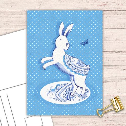 Willow Love Birds Range Postcard  set of 12 CodePOSTRAB27 Rabbit