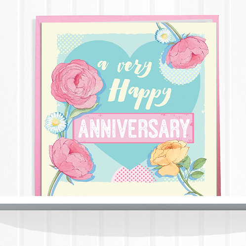 Message Me Range Greeting Card set of 6 codeAR0116ANN Anniversary