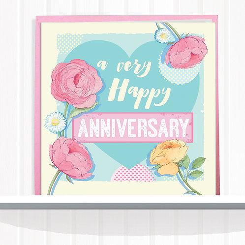Message Me Range Greeting Card set of 6 codeAR0116ANN Anniversary