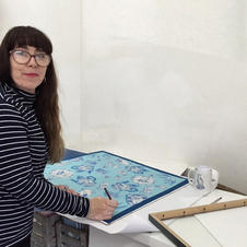 Back in my studio at The Bluecoat Art Gallery and Art Centre after Lockdown framing prints