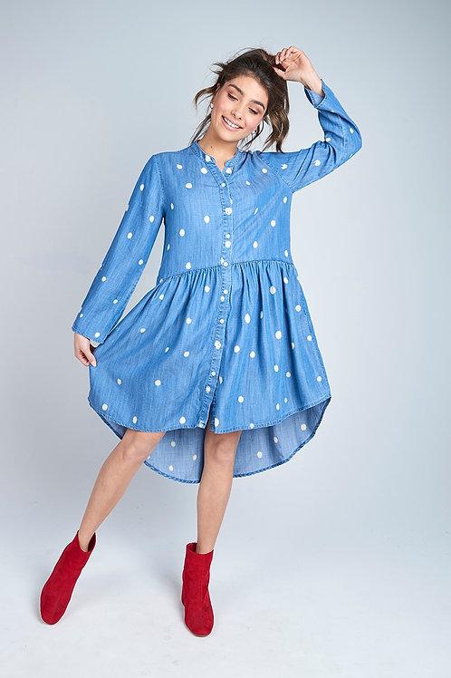 Chambray Spot Dress