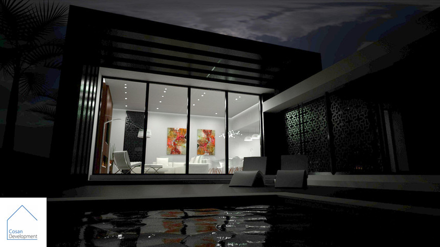 Image 1 - From Pool - Night View - With