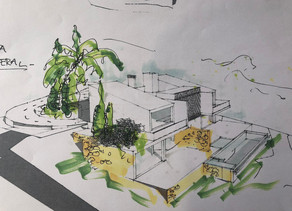First sketches of a new villa in Javea - Costa Blanca