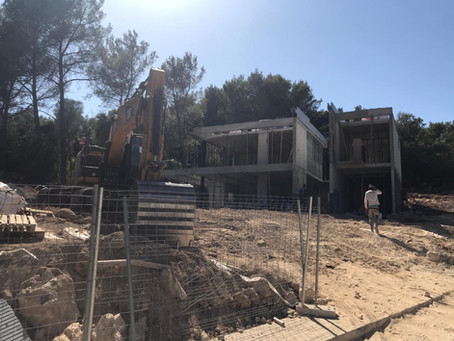 Our Son Toni villa is coming along nicely.  #mallorca#newvilla#designer#modernstyle