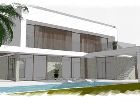 First design sketches for a new investment project in Nova Santa Ponsa - Calvia - Mallorca