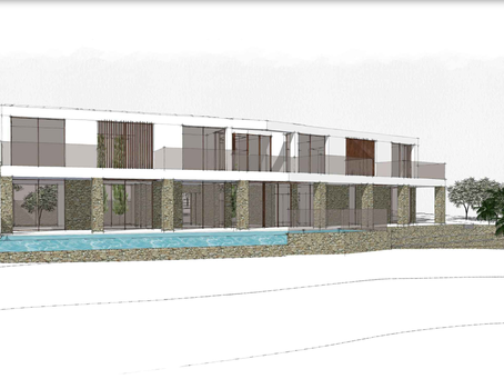Another new design on the drawingboard.  A spacious modern finca with seaviews towards Palma.