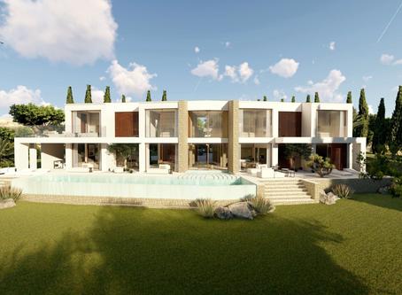 "Modern new ""mansion"" overlooking the bay of Palma de Mallorca"