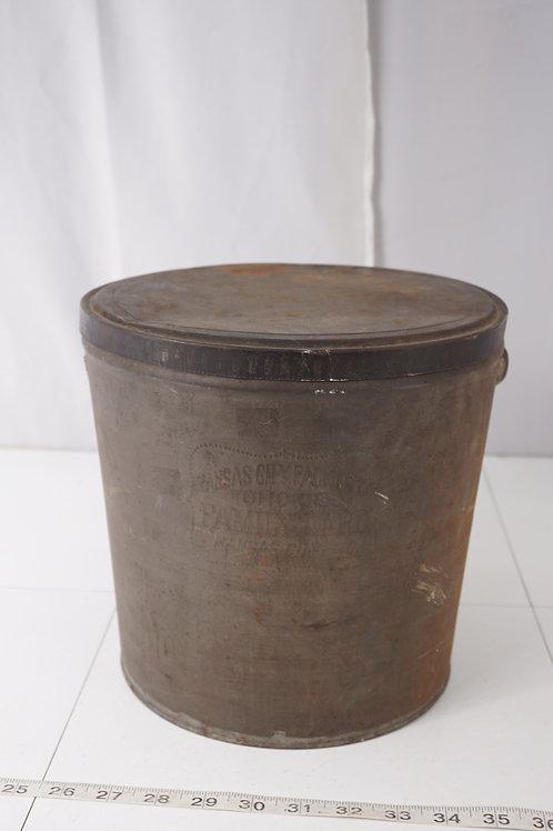 Kansas City Lard Tin Bucket