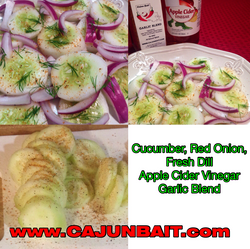 Cucumber, Onion, Freshh Dill Slad