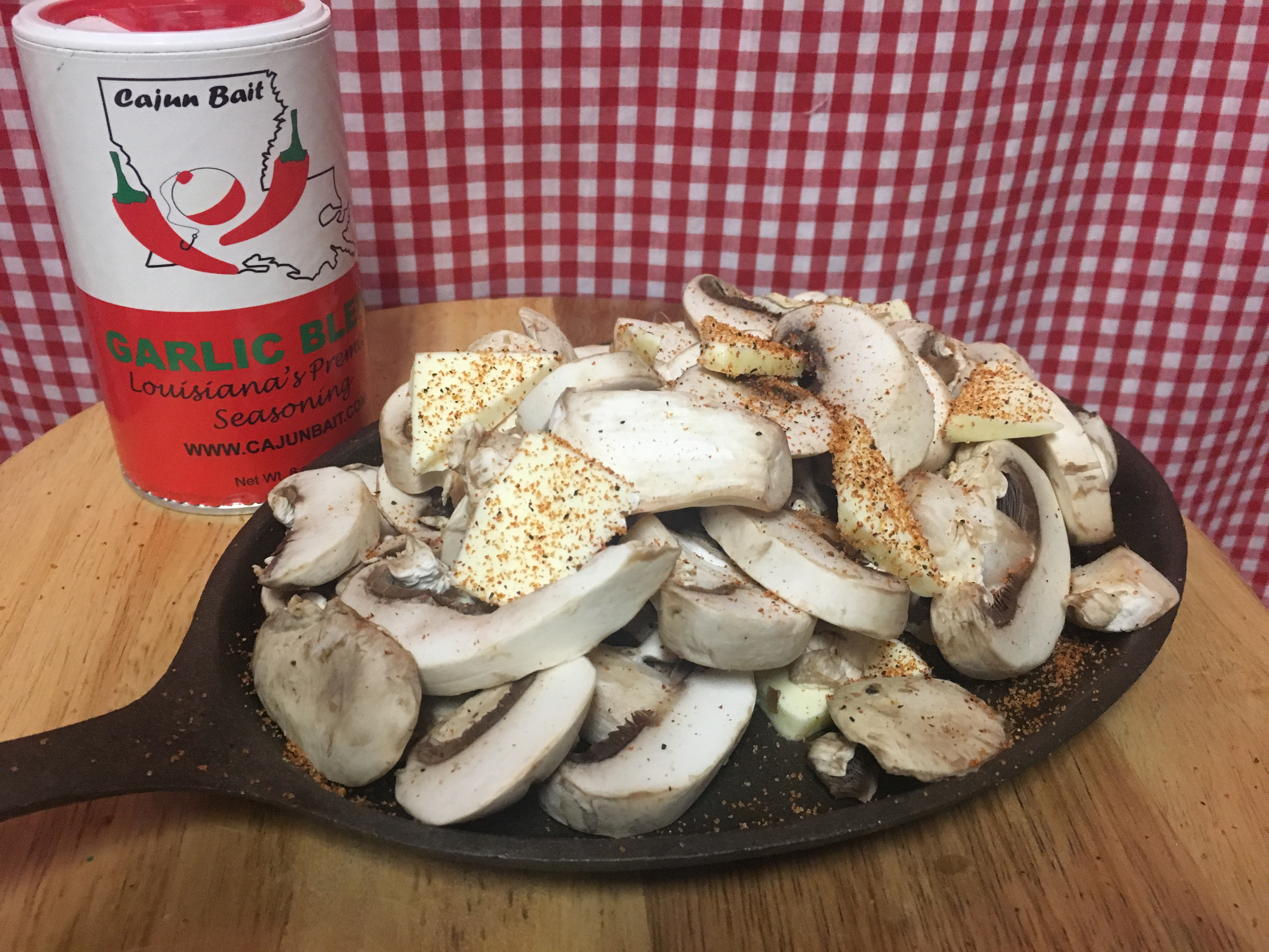 Mushrooms with Garlic Blend