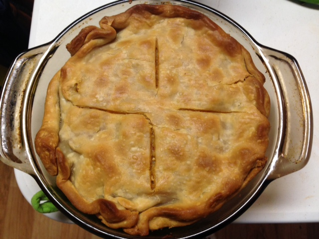 Crawfish Pie Baked