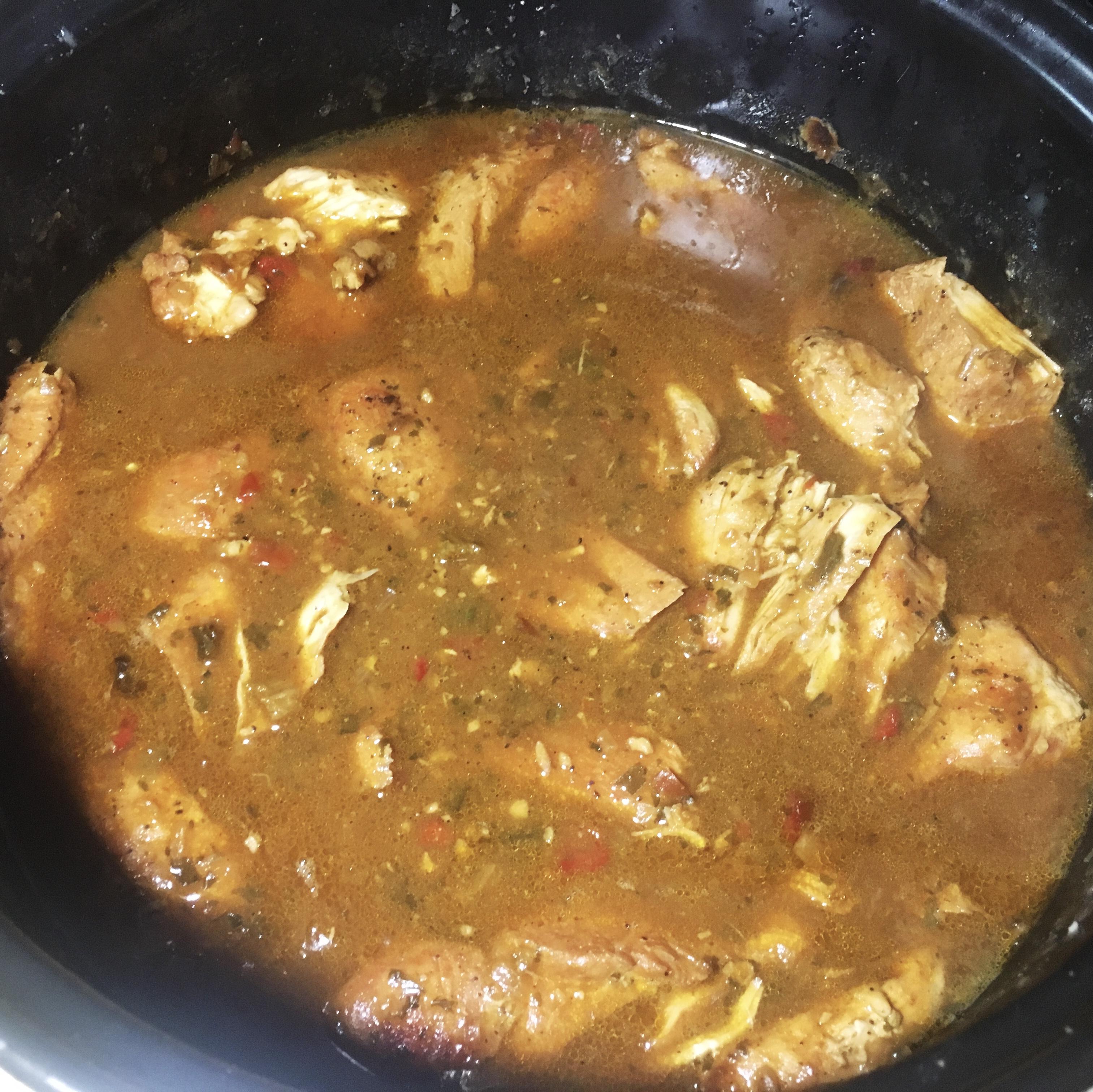 Chicken in a gravy