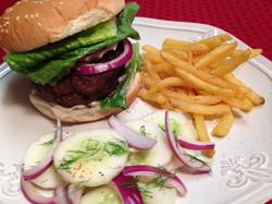 Hamburger and Cucumber Salad