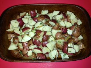Garlic Rosemary Potatoes