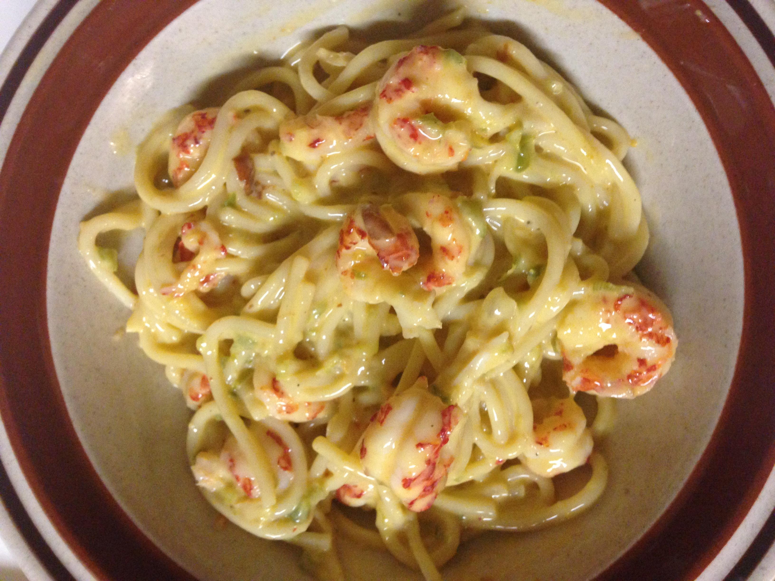 Cheesy Crawfish Spaghetti
