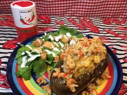 Twice Baked Crawfish Etoufee Potato