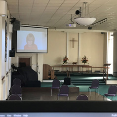 Jess preaching online and in church