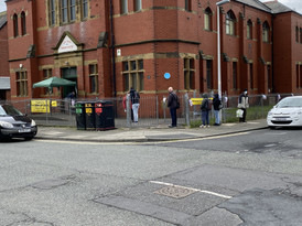 Clients queuing (socially distanced)