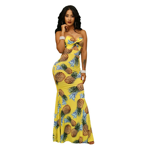 Carolina Fruit Maxi Dress