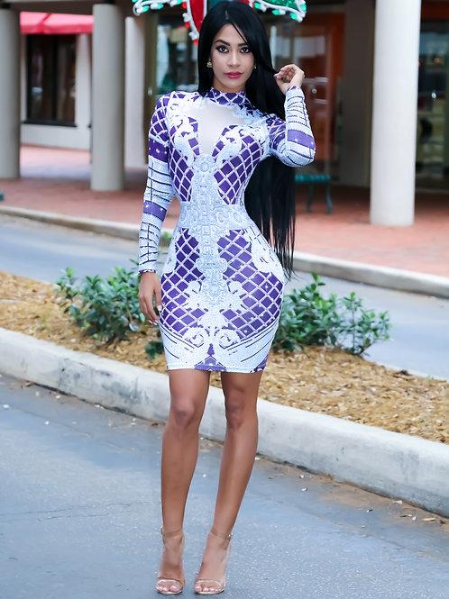 Sevilla Long Sleeve Mini Dress