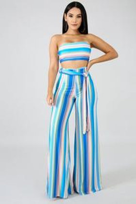 Nnelly Pastel Palazzo Pant Set