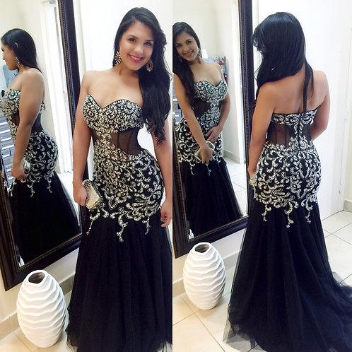 Elengant Black Party Dress