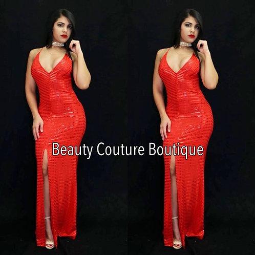 Alisha Maxi Red dress