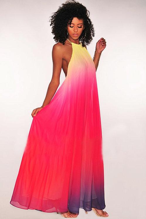 Cleo Multi Color Maxi Dress