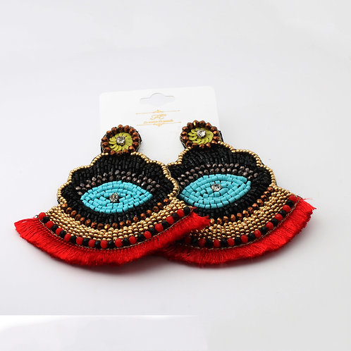 Fashion Fringe Earring Multicolor