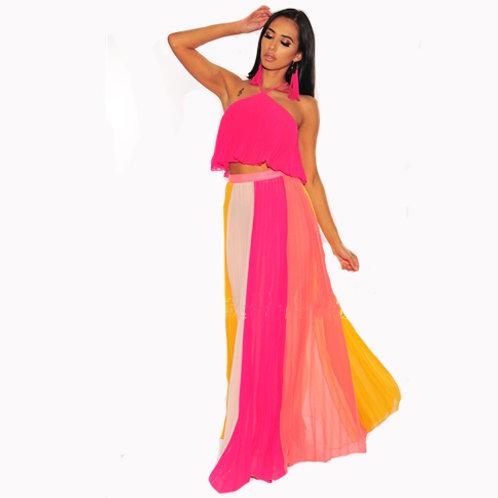 Multi-Color Skirt Set