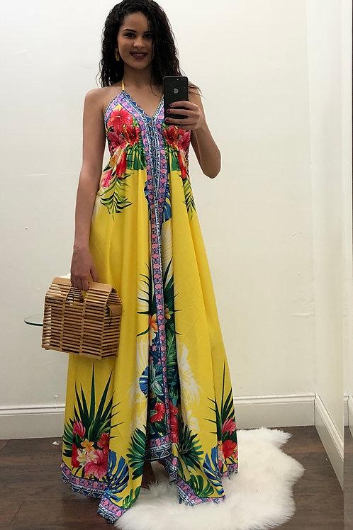 Yara Floral Yellow Dress