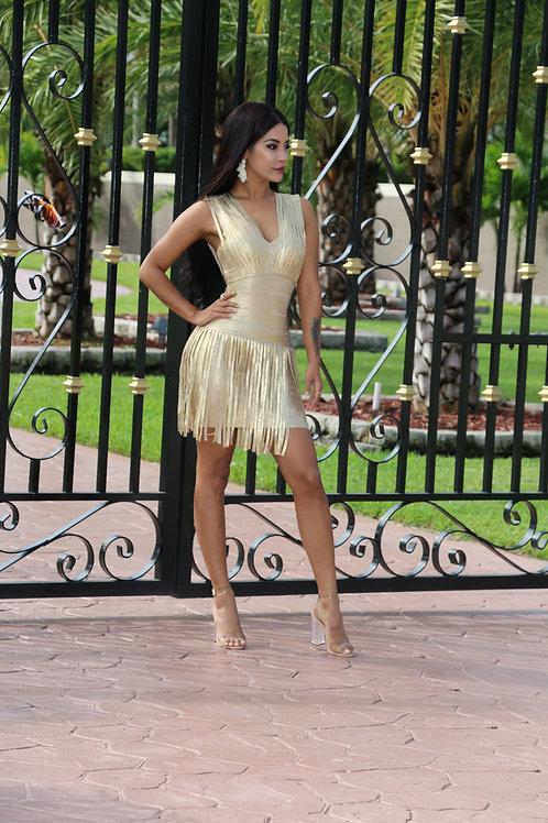 Camila Gold Dress