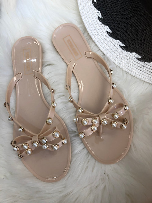 Tory Nude Gummy Sandals