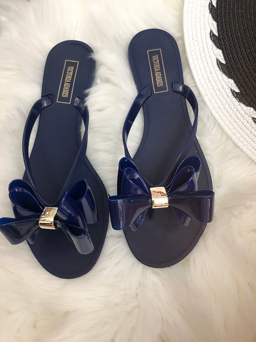 Blue Celine Gummy Sandals
